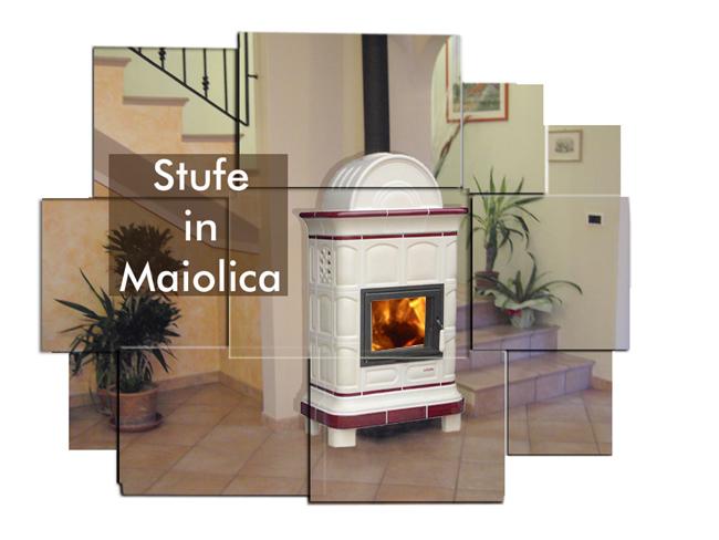 La fuente produce stufe a legna in maiolica con la - Stufe a legna moderne ...